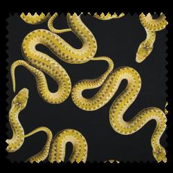 Tissu Digital Imprimé Serpent Noir citron Vert