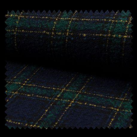 Tissu Carreau Navy vert