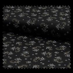 Tissu Romantico Fond Noir