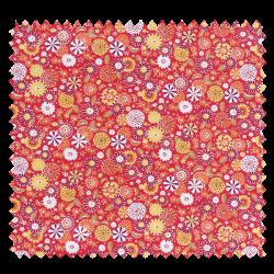 Coupon Tissu Misaki Rouge 100 x 160 cm