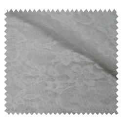 Tissu Dentelle Fleur Ecru