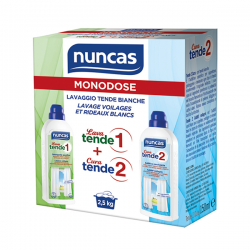 Produit Nuncas Monodose Lavage Voilage/rideau Blanc 75ml 150ml
