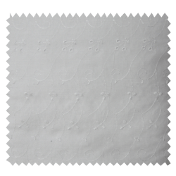 Tissu Broderie Anglaise Blanc