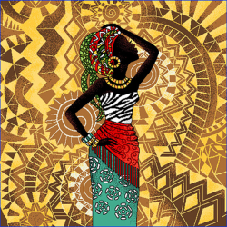 Coupon Femme Africaine 45x45 cm