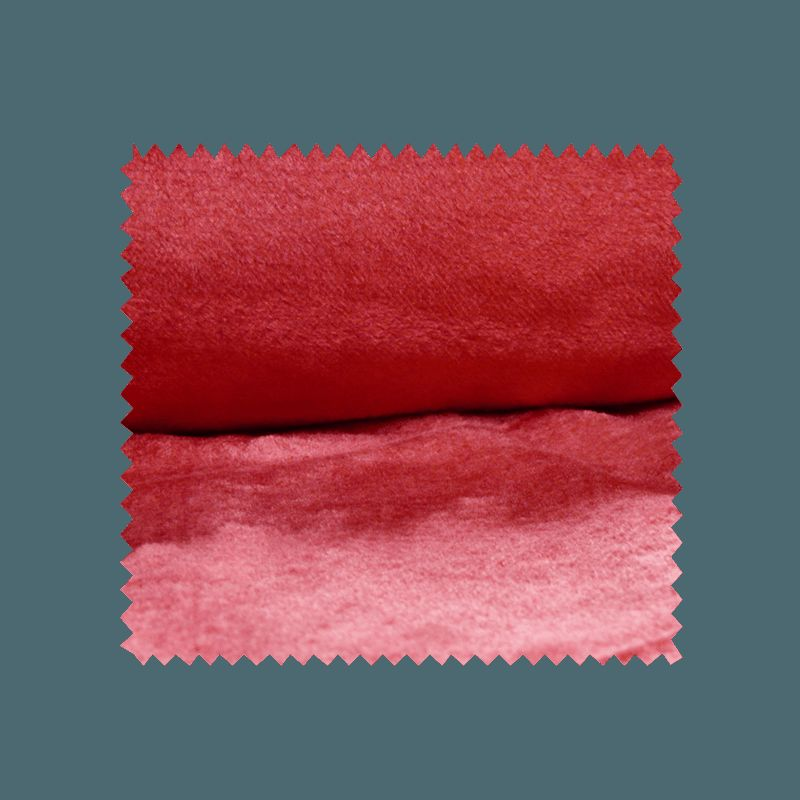 Tissu Fausse Fourrure Uni Rouge
