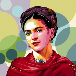 Coupon Frida Kahlo 45x45 cm
