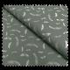 Tissu Devon Bio Imprimé Plumes Pétrole