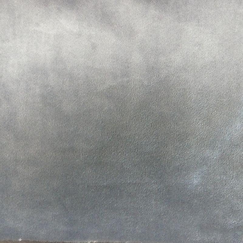 Tissu Velours Uni Gris Perle