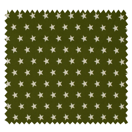 Tissu Imprimé Etoile Kaki