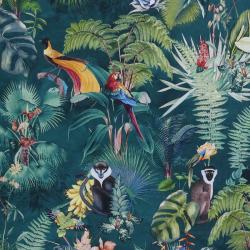 Tissu Palm Vert Percale
