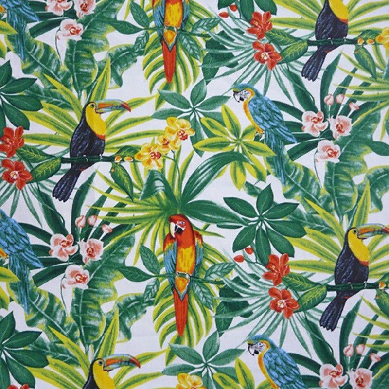 Tissu Mayotte Exotique Demi Natte