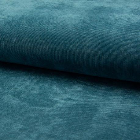 Tissu Veloutine Uni Pétrole