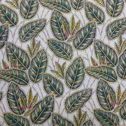 Tissu Eldorado Jacquard Allover Blanc vert