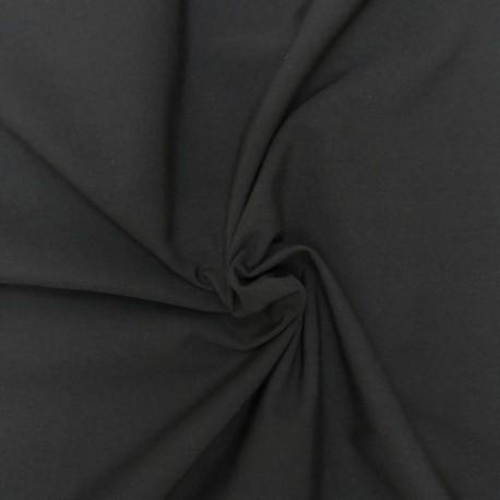Tissu Popeline Uni Noir