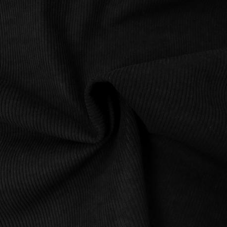 Tissu Starsky Velours Côtelé Noir