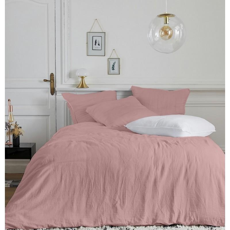 Parure de linge de lit en gaze de coton Olivia Rose