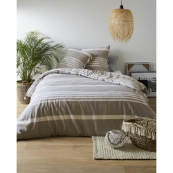 Parure de linge de lit Rayée Leon - existe en 3 coloris