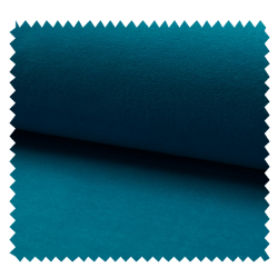 Tissu Jersey Velours Nicky Uni Turquoise