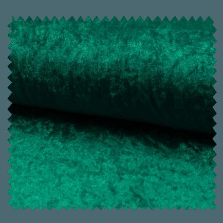 Tissu Panne De Velours Uni Vert