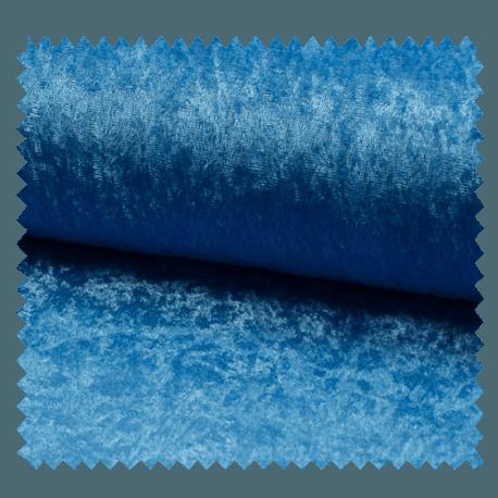 Tissu Panne De Velours Uni Bleu Ciel