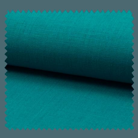 Tissu Lin Uni Turquoise
