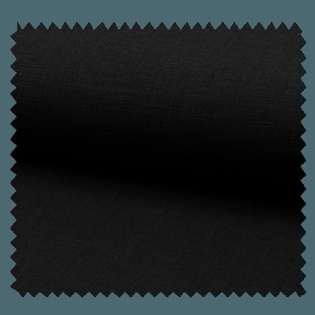 Tissu Lin Uni Noir