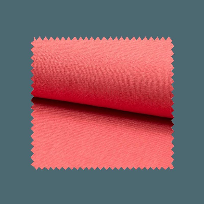 Tissu Lin Uni Corail