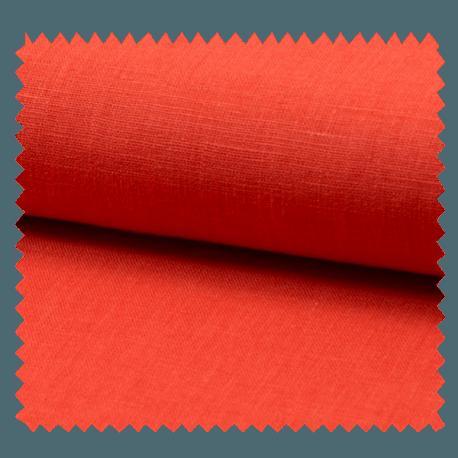 Tissu Lin Uni Orange
