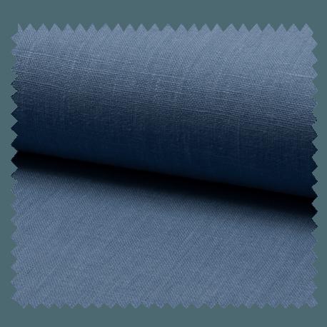 Tissu Lin Uni Vieux Bleu