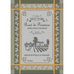 Torchon Jacquard Vin Côte de Provence Vert Olive