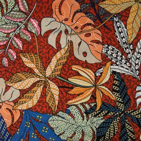 Tissu Maxima Imprime Rouille/beige