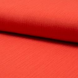 Tissu Crêpe Coton Froissé Orange