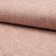 Tissu Lange Bio Imprimé Rayure Rose