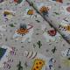 Tissu Alpaca Imprime Beige