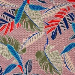 Tissu Chally Imprimé Orange bleu