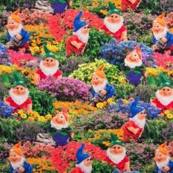 Tissu Digital Lutin Avec Fleur