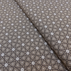 Tissu Ceramik Cretonne Taupe