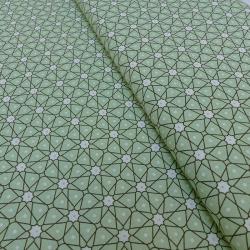 Coupon Tissu Ceramik Cretonne Vert D'eau 100 x 160 cm