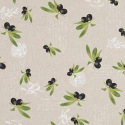 Tissu Olive Fond Lin