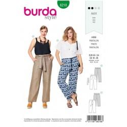 Patron Burda 6218 Pantalon - Forme Droite - Poches Plaquees
