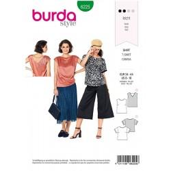 Patron Burda 6225 Blouse - Tee-shirt - Top - Forme Droite