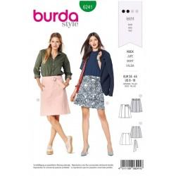 Patron Burda 6241 Jupe - Jupe A Panneaux Sans Ceinture Rapportée - Avec Ceinture