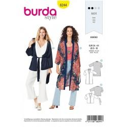 Patron Burda 6244 Kimono - Manteau -veste
