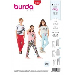 Patron Burda 9300 Kids Pantalon de Jogging - Pantalon A Coulisse Elastique - Pan