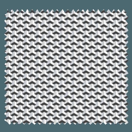 Tissu Facette Imprimé Argent
