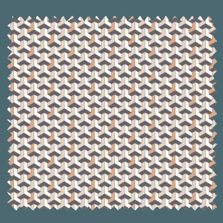 Tissu Facette Imprimé Cuivre