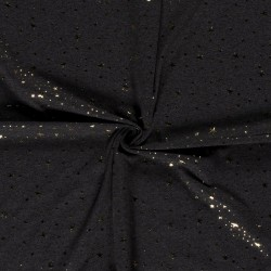 Tissu Jersey Imprimé Etoile Anthracite