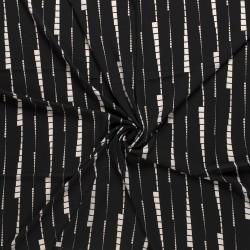 Tissu Crêpe Imprimé Noir
