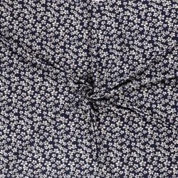 Tissu Imprimé Fleur Fond Marine