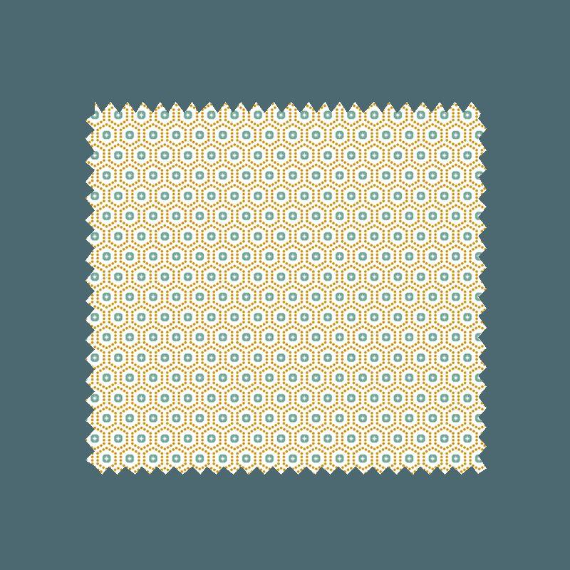 Tissu kobe imprim jaune tissus des ursules - Kobe tissu ...